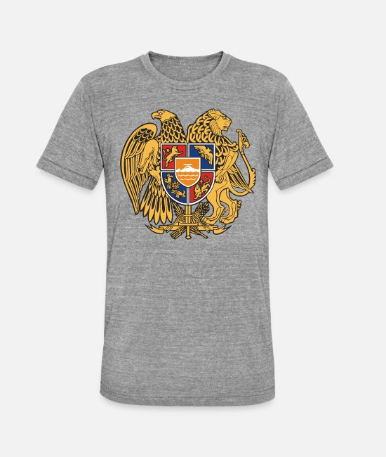 Armenia T-Shirts - Armenia emblem - Unisex Tri-Blend T-Shirt heather grey