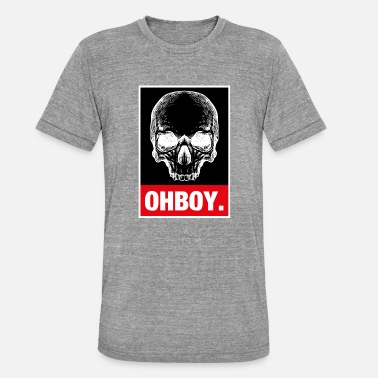 Oh Boy Oh Boy Schaedel Pirate Drawing Straight - Koszulka Bella + Canvas triblend – typu unisex