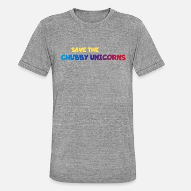 Chubby Unicorns - Triblend-T-shirt unisex från Bella + Canvas