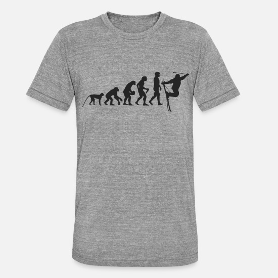 Winter T-Shirts - Ski Evolution - Unisex Tri-Blend T-Shirt heather grey