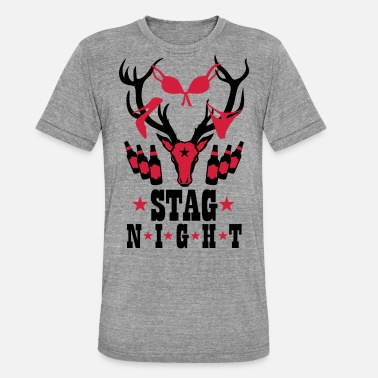 Stag Night Deer Stag Night Beer Drinking Team 179 - Unisex Tri-Blend T-Shirt