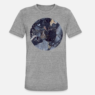 Marble Blue Moon - Unisex Tri-Blend T-Shirt