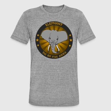 Big Five big five elephant - Unisex Tri-Blend T-Shirt by Bella & Canvas