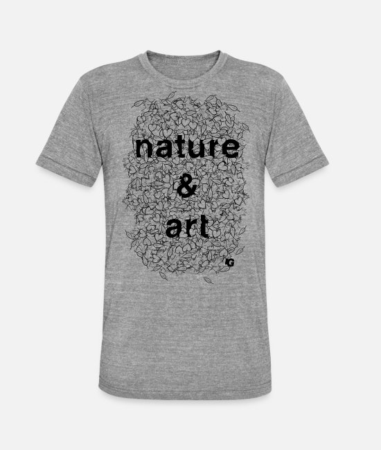 Nature T-Shirts - UG Nature and Art B/W - Unisex Tri-Blend T-Shirt heather grey