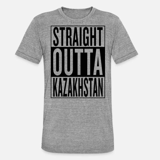 Out Of Hiphop Hip Hop Rap Black Drug Drugs T-Shirts - Kazakhstan - Unisex Tri-Blend T-Shirt heather grey