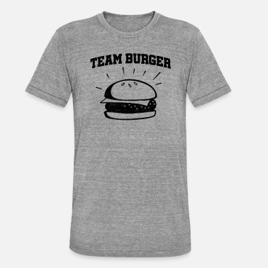 Burger Team Burger - Camiseta Tri-Blend unisex de Bella + Canvas