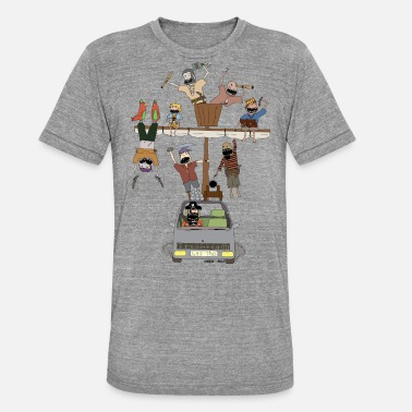 Pirate pirate ship car - Unisex Tri-Blend T-Shirt