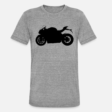 Silhouette sports bike silhouette - Unisex Tri-Blend T-Shirt