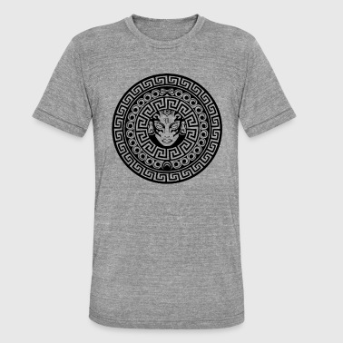 Mäander Mosaik Ornament - FJL - Unisex Tri-Blend T-Shirt von Bella + Canvas