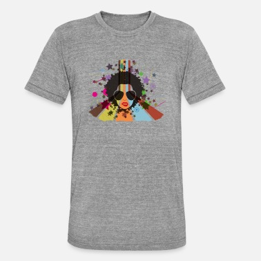 Retro Afro 80s | create your own T-shirts - Unisex Tri-Blend T-Shirt