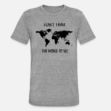 Traveller to travel - Unisex Tri-Blend T-Shirt by Bella & Canvas
