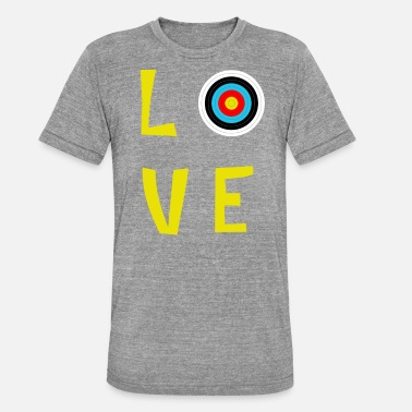 Archery Lover love archery - Unisex T-Shirt meliert