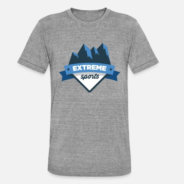 Winter Sports Winter, winter sports, mountaineering - Unisex Tri-Blend T-Shirt