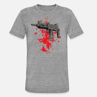 Machine Gun Machine gun - Unisex T-Shirt meliert