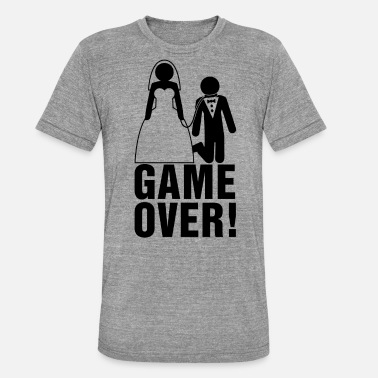 Bruidegom Game Over Bachelor Parties | bruidegom | Game Over! - Unisex triblend T-shirt