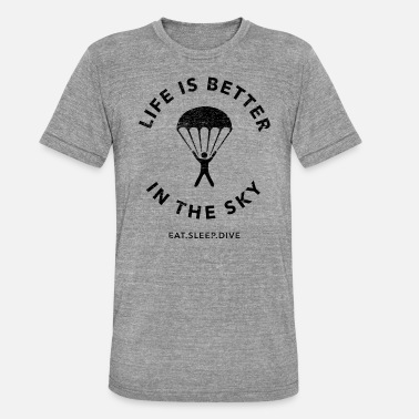 Skydiving Eat Sleep Skydive - Unisex Tri-Blend T-Shirt by Bella & Canvas