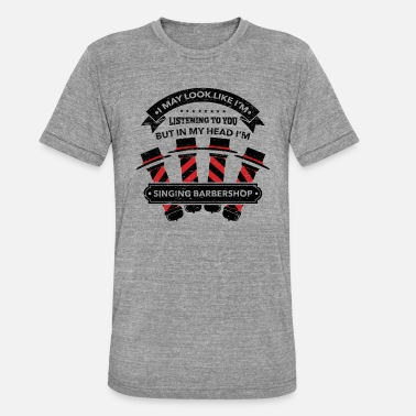 Barbershop Quartet Singing Barbershop Quartet Harmony - Unisex tri-blend T-skjorte fra Bella + Canvas