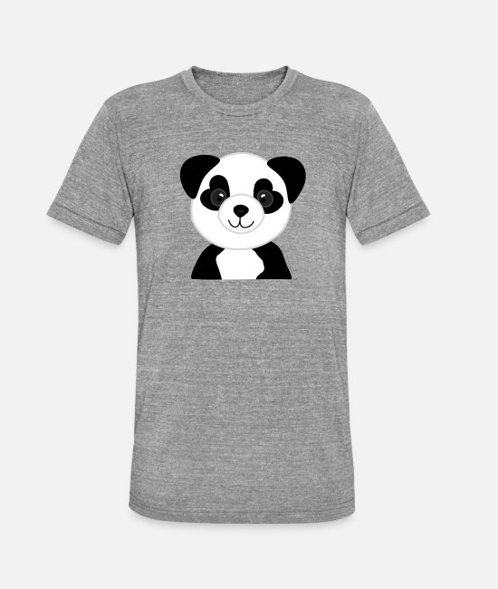 Idea T-Shirts - Panda bear baby heart eyes - Unisex Tri-Blend T-Shirt heather grey