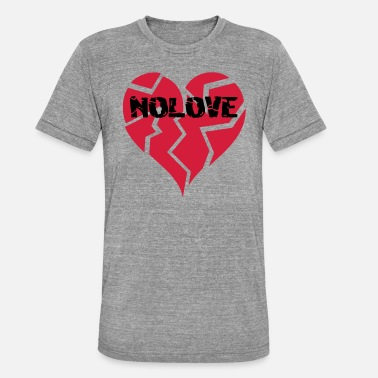 Nolove NO LOVE | Broken Heart - Unisex Tri-Blend T-Shirt