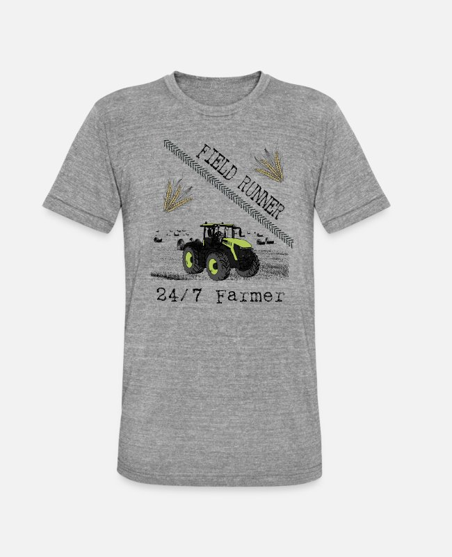 Occupation T-Shirts - Tractor - Field Runner - Farmer - Gift - Unisex Tri-Blend T-Shirt heather grey