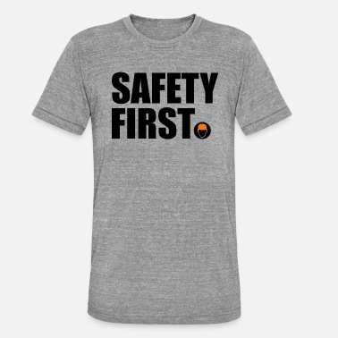 Safety Helmet Safety First Safety First Protective Helmet Protect - Unisex Tri-Blend T-Shirt by Bella & Canvas