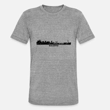 Seattle Seahawks Seattle Skyline Panorama Space Needle - Unisex Tri-Blend T-Shirt