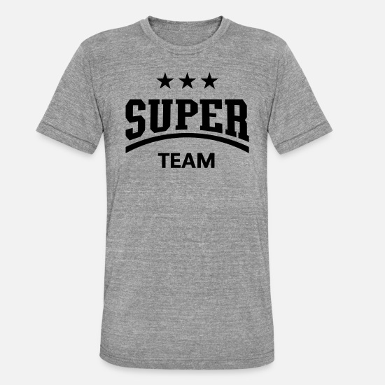 Soccer T-Shirts - Super Team - Unisex Tri-Blend T-Shirt heather grey