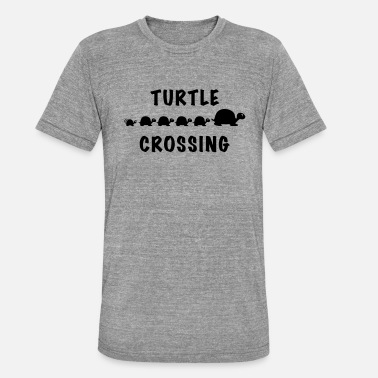 Crossing Turtle Crossing - Triblend T-shirt unisex