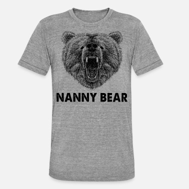 Apron Cool Nanny Bear Wild Grizzly Bear Funny Gifts.SALE - Unisex Tri-Blend T-Shirt