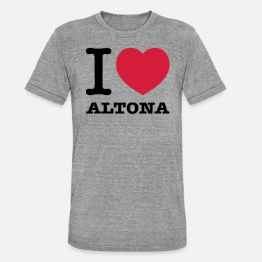 Altona I love Hamburg Altona - Unisex Tri-Blend T-Shirt