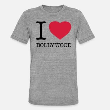 Bollywood I LOVE BOLLYWOOD - Unisex triblend T-skjorte