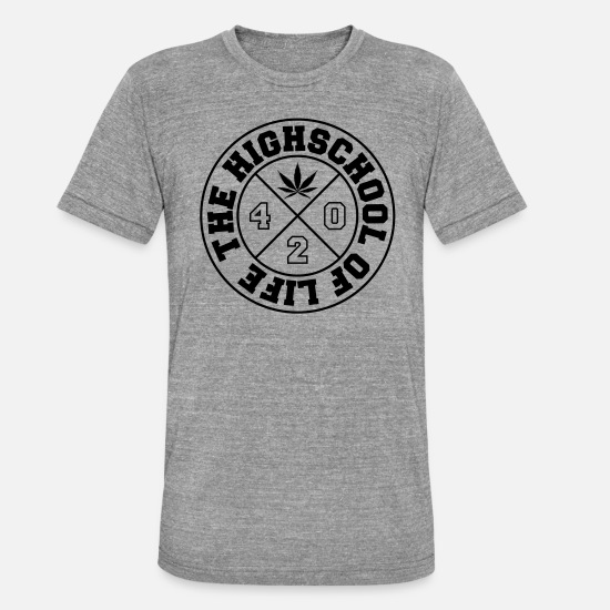 Rastafari T-Shirts - HIGH SCHOOL - Unisex Tri-Blend T-Shirt heather grey