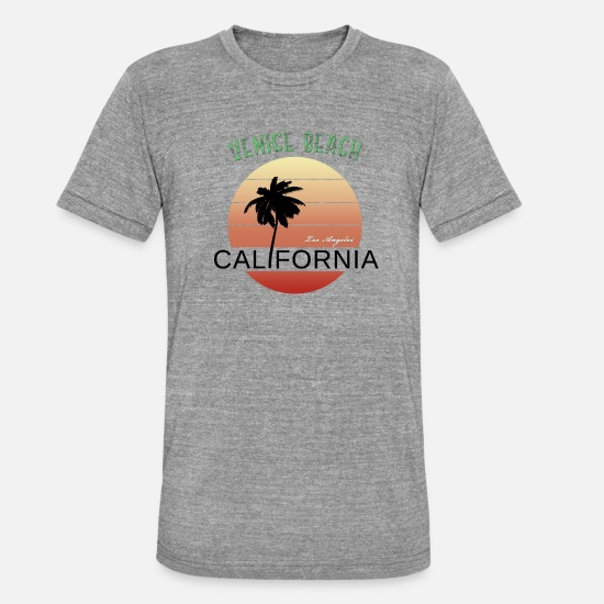 Venice Beach T-shirts - Venice Beach, Californie, Los Angeles - T-shirt chiné unisexe gris chiné