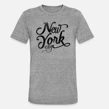 New York New York City typographie vintage - T-shirt chiné unisexe