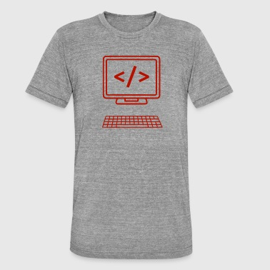Java Computer code - Unisex tri-blend T-shirt van Bella + Canvas