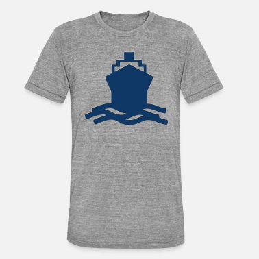 Shipping ship - Unisex Tri-Blend T-Shirt by Bella & Canvas