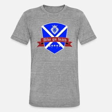 fd24d6e8d Highland Scottish Flag Gray Vintage Gift - Unisex Tri-Blend T-Shirt