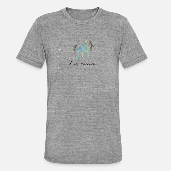 Love T-Shirts - unicorn - Unisex Tri-Blend T-Shirt heather grey