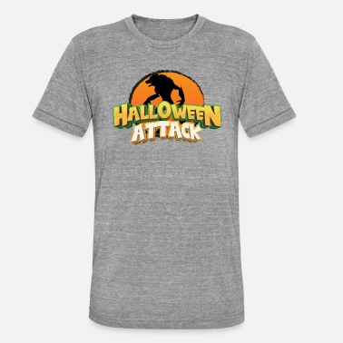 Borderlands HALLOWEEN-ANGRIFF - Unisex T-Shirt meliert