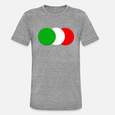 Italian Design Italian flag - Unisex Tri-Blend T-Shirt by Bella & Canvas