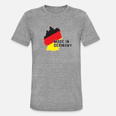 Made In Germany Made in Germany with Germany map - Unisex Tri-Blend T-Shirt by Bella & Canvas