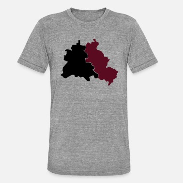 Ost West Berlin Ost / West - Unisex T-Shirt meliert