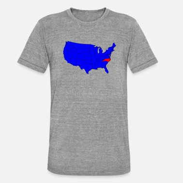 Northamptonshire State of North Carolina Location - Triblend T-shirt unisex
