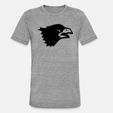 bird eagle head - Unisex Tri-Blend T-Shirt