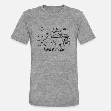 Simple Island van / vie, surf, plein air, voyage - T-shirt chiné unisexe
