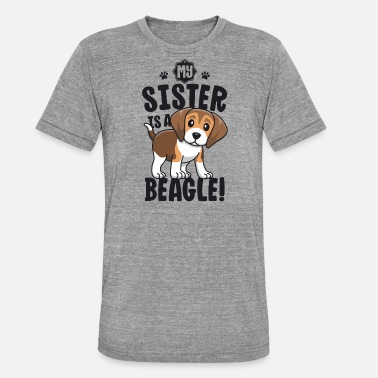Hits My Sister Is A Beagle Shirt Beagle shirt til børn - Unisex triblend T-shirt