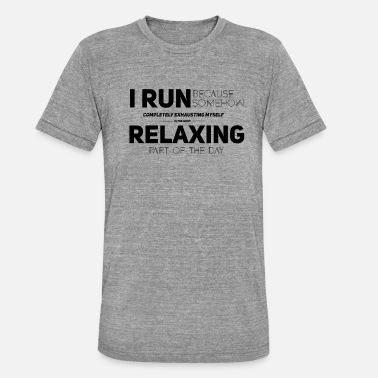 Joggen Training Joggen Running Training - Unisex Tri-Blend T-Shirt von Bella + Canvas