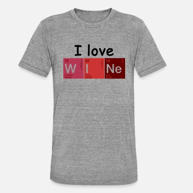 Love Vino Love vino wine - Maglietta unisex tri-blend di Bella + Canvas