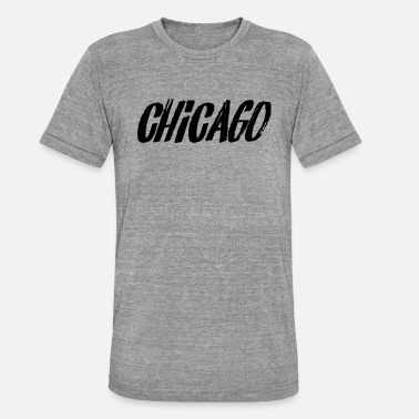 Chicago Bears Chicago T-shirt - Unisex Tri-Blend T-Shirt by Bella & Canvas
