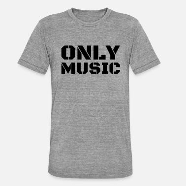 Sort Musik Kun musik - sort - Unisex tri-blend T-shirt fra Bella + Canvas